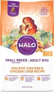 Halo Holistic Chicken & Chicken Liver All Life Stages Small Breed Dry Dog Food