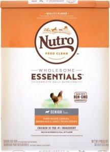 Nutro Wholesome Essentials Senior Farm-Raised Chicken, Brown Rice & Sweet Potato Recipe Dry Dog Food