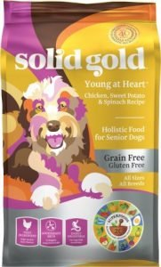 Solid Gold Young At Heart Chicken, Sweet Potato & Spinach Senior Recipe Grain-Free Dry Dog Food