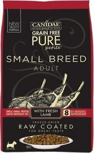 CANIDAE Grain-Free PURE Petite Lamb Formula Small Breed Limited Ingredient Diet Freeze-Dried Raw Coated Dry Dog Food - Best Limited Ingredient Food