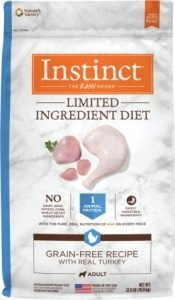 Instinct Limited Ingredient Diet Grain-Free Recipe with Real Turkey Freeze-Dried Raw Coated Dry Dog Food - Best Dog Food for Allergies