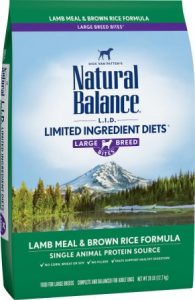 Natural Balance L.I.D. Limited Ingredient Diets Lamb & Brown Rice Formula Large Breed Dry Dog Food - Best Limited Ingredient Dry Dog Food