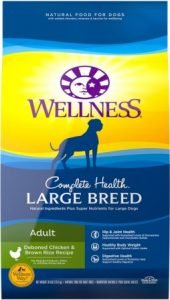 Wellness Large Breed Complete Health Adult Deboned Chicken & Brown Rice Recipe Dry Dog Food- Premium Pick