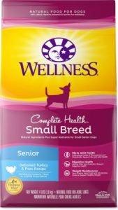 Wellness Small Breed Complete Health Senior Deboned Turkey & Peas Recipe Dry Dog Food, 4-lb bag - Affordable Pick